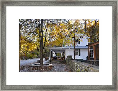 Fall Along Forbidden Drive - Valley Green Framed Print by Bill Cannon