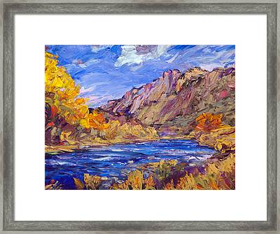 Fall Along The Rio Grande Framed Print by Steven Boone