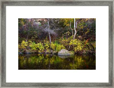 Fall Along The Yahi Trail Framed Print by Robert Woodward