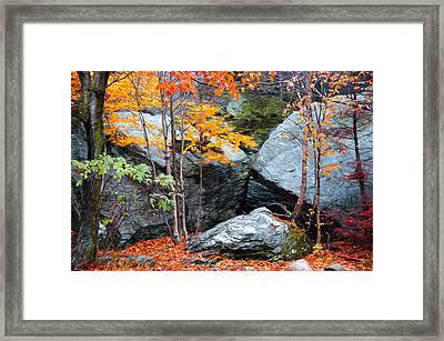 Fall Among The Rocks Framed Print by Bill Howard