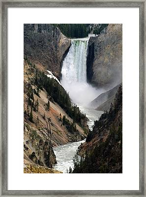 Fall And Stream In Yellowstone Framed Print by Yue Wang