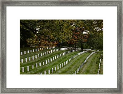 Fall At Arlington Cemetery Framed Print by DustyFootPhotography