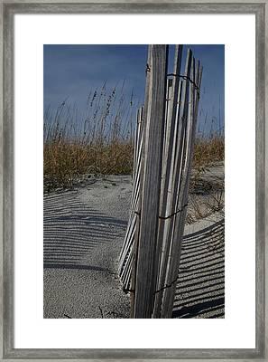 Fall At Atlantic Beach Framed Print