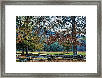 Framed Print featuring the photograph Fall At Cades Cove by Kenny Francis