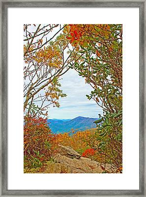 Fall At Craggy Pinnacle Framed Print