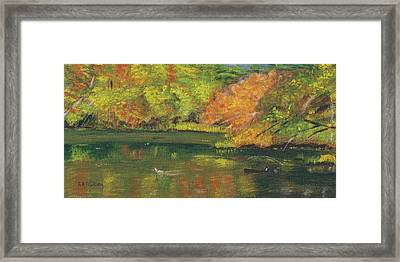 Fall At Dorrs Pond Framed Print