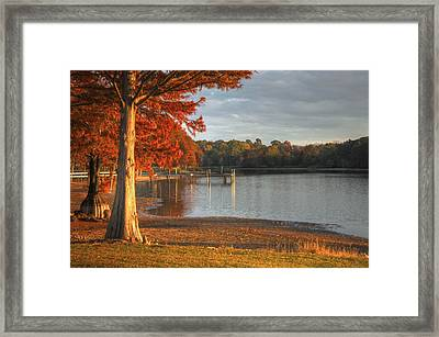 Fall At Georgia Lake Framed Print