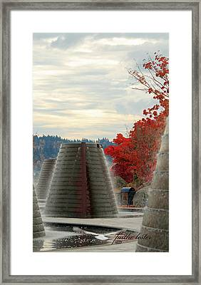Harborside Fountain Park II Framed Print