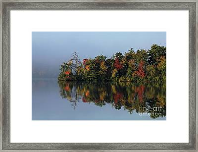 Fall At Heart Pond Framed Print