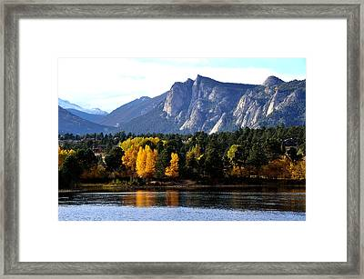 Fall At Lake Estes Framed Print by Tranquil Light  Photography