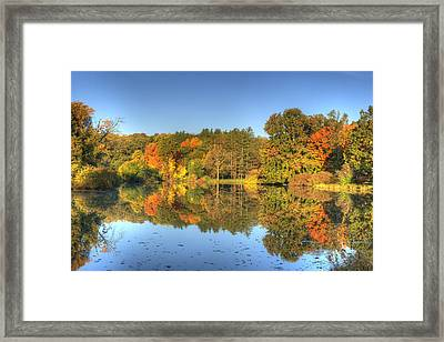 Framed Print featuring the photograph Fall At Lake Marmo by Ed Cilley