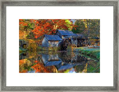 Fall At Mabry Mill Framed Print