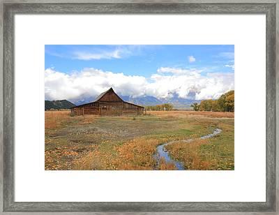 Fall At Moulton Barn Framed Print