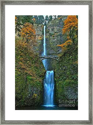 Fall At Multnomah Framed Print by Adam Jewell