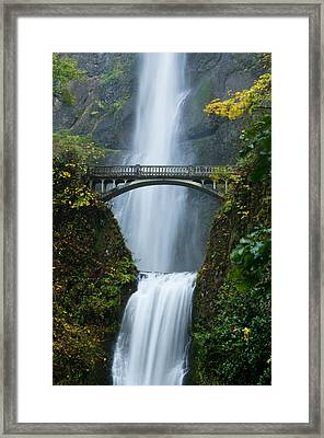 Fall At Multnomah Falls Framed Print
