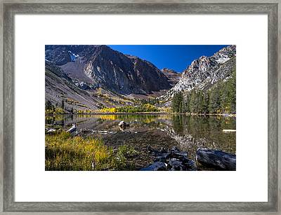 Fall At Parker Lake Framed Print by Cat Connor
