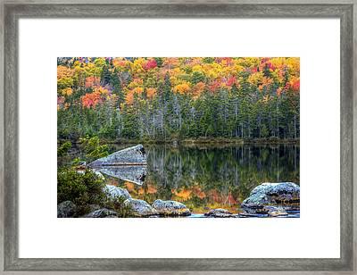 Fall At Sandy Stream Pond Framed Print