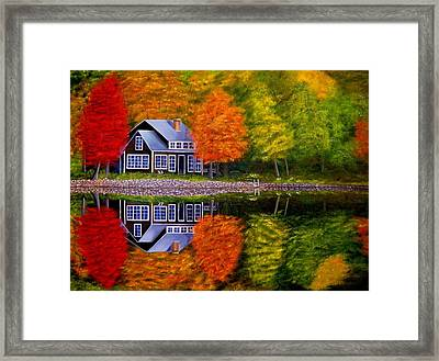 Fall At The Cabin Framed Print