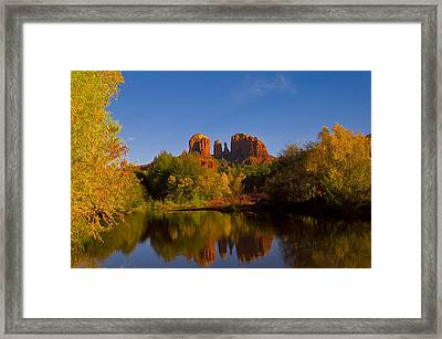 Framed Print featuring the photograph Fall At The Crossing by Tom Kelly