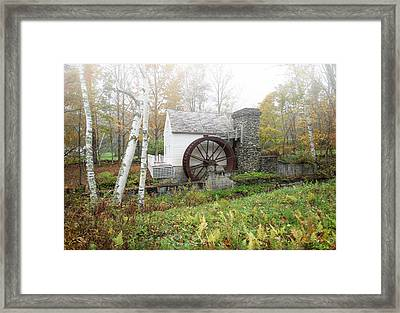 Fall At The Dorset Grist Mill Framed Print by Gordon Ripley