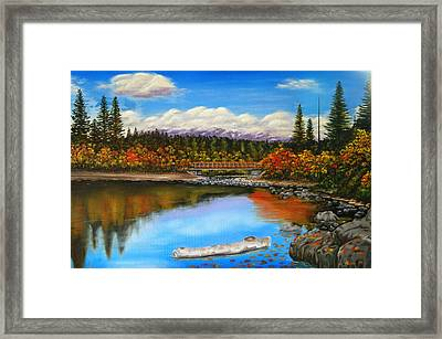 Lakeside In Autumn Framed Print