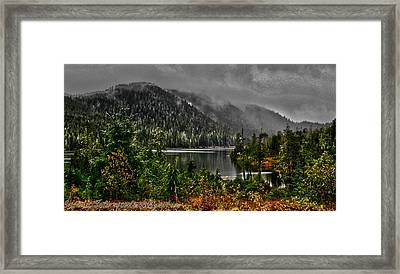 Framed Print featuring the photograph Fall At The Lake. by Timothy Latta