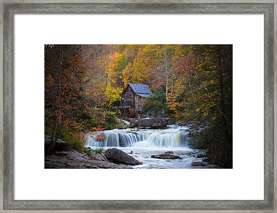 Mill At Babcock State Park Framed Print