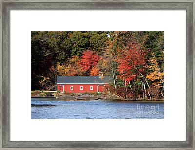 Fall At The Mill Framed Print by Jayne Carney