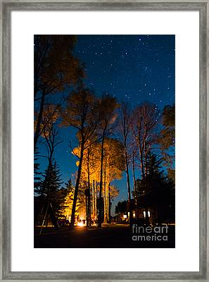 Fall At The Ponderosa Framed Print