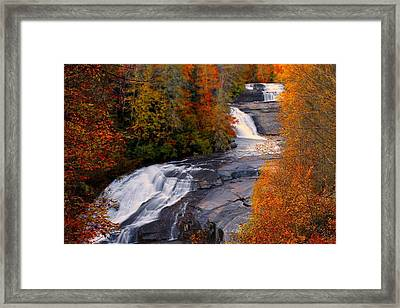 Fall At Triple Falls Framed Print