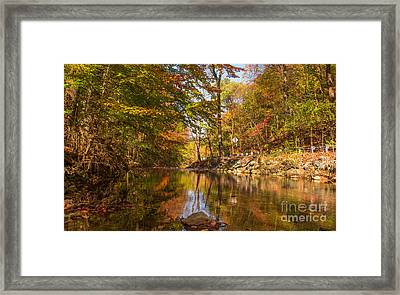 Fall At Valley Creek  Framed Print by Rima Biswas