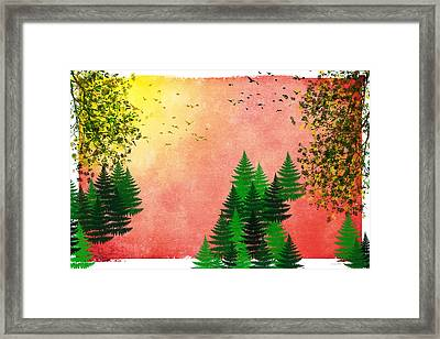 Fall Autumn Four Seasons Art Series Framed Print by Christina Rollo