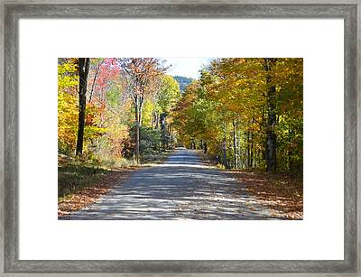 Fall Backroad Framed Print