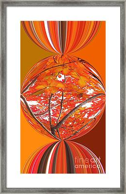 Fall Ball - Autumn Leaves And Color Framed Print by Scott Cameron