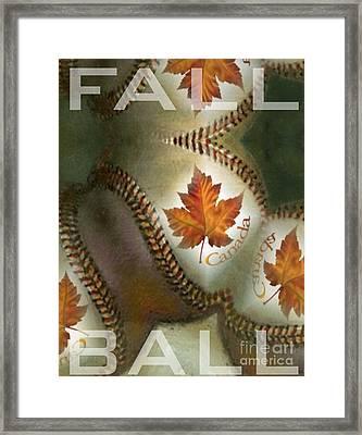 Fall Ball Framed Print by Maria Watt