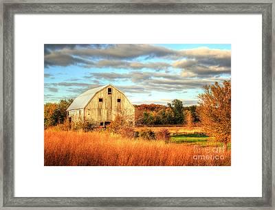 Fall Barn Beauty Framed Print