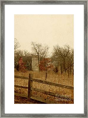 Fall Barn Framed Print