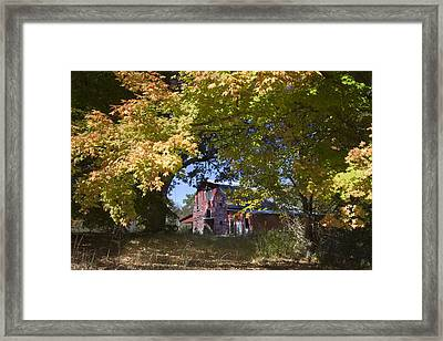 Framed Print featuring the photograph Fall Barn by Robert Camp
