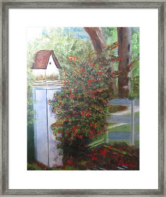 Framed Print featuring the painting Fall Berries by Sharon Schultz