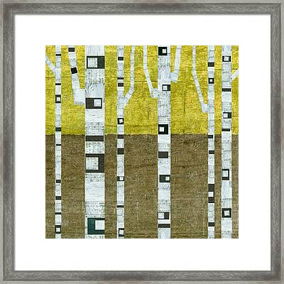 Fall Birches  Framed Print by Michelle Calkins