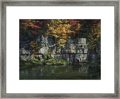 Fall Bluffs - Ozark Nat'l Scenic Rivers Framed Print by Don  Langeneckert