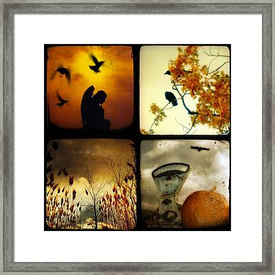 Fall Blush Collage Framed Print by Gothicrow Images