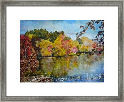 Fall Burst Of Colors Framed Print
