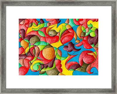 Fall Celebration Framed Print by Lesa Weller