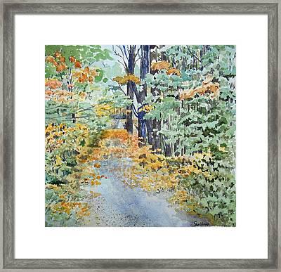 Fall Framed Print by Christine Lathrop