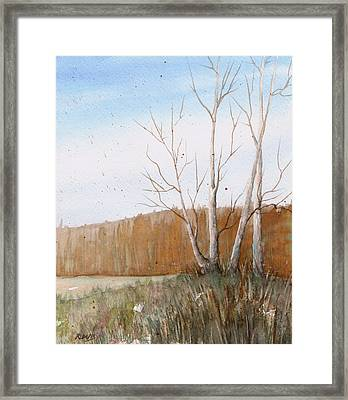 Framed Print featuring the painting Fall Clearing by Rebecca Davis