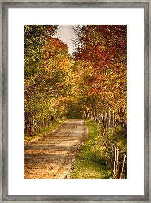 Framed Print featuring the photograph Fall Color Along A Peacham Vermont Backroad by Jeff Folger