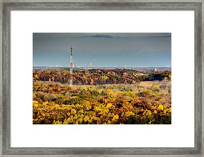 Fall Color And Downtown Framed Print