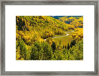 Fall Color Scenic Drive Framed Print by Teri Virbickis