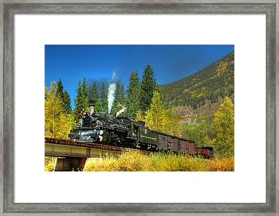 Fall Colored Bridge Framed Print